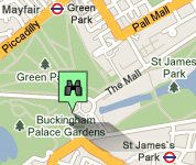 Click for map of Buckingham Palace hotels