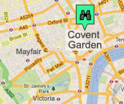 Click for map of Covent Garden hotels