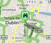 Click for map of Dublin City Centre hotels