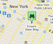 Click for map of Empire State Building hotels