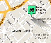 Click for map of New London Theatre hotels