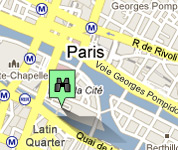 Click for map of Notre-Dame hotels