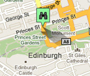 Click for map of Princes Street hotels