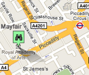 Click for map of Royal Academy hotels