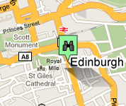 Click for map of Royal Mile hotels
