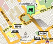 Click for map of Russell Square hotels