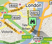 Click for map of Tate Britain hotels