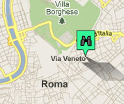 Click for map of Via Veneto hotels